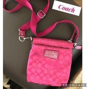 Fuchsia Coach Cross-Body/Shoulder Bag